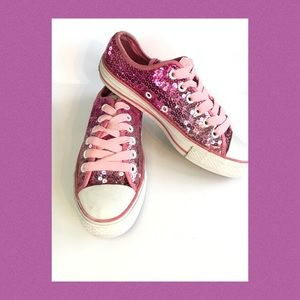 Converse All Stars Low top Sequin Size 7 EUC